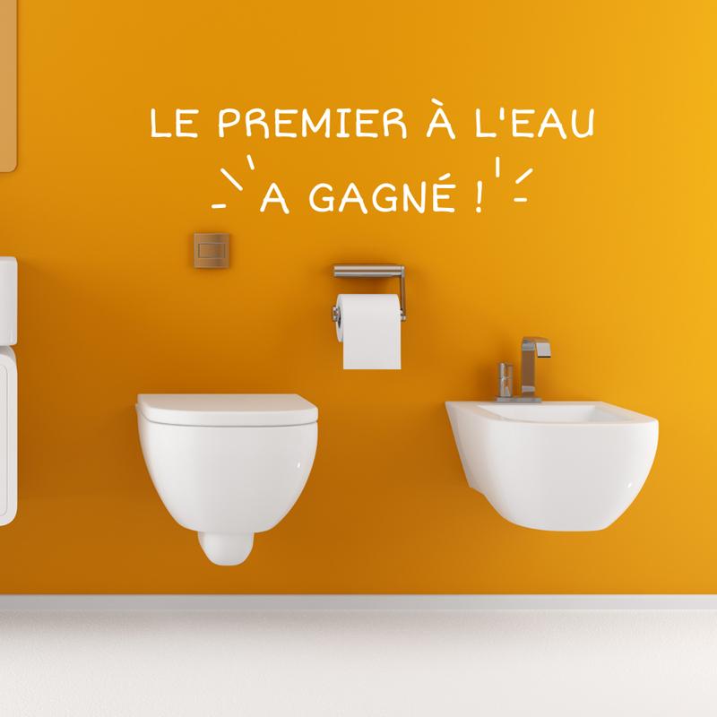 sticker le premier l eau a gagn stickers salle de bain ambiance sticker. Black Bedroom Furniture Sets. Home Design Ideas