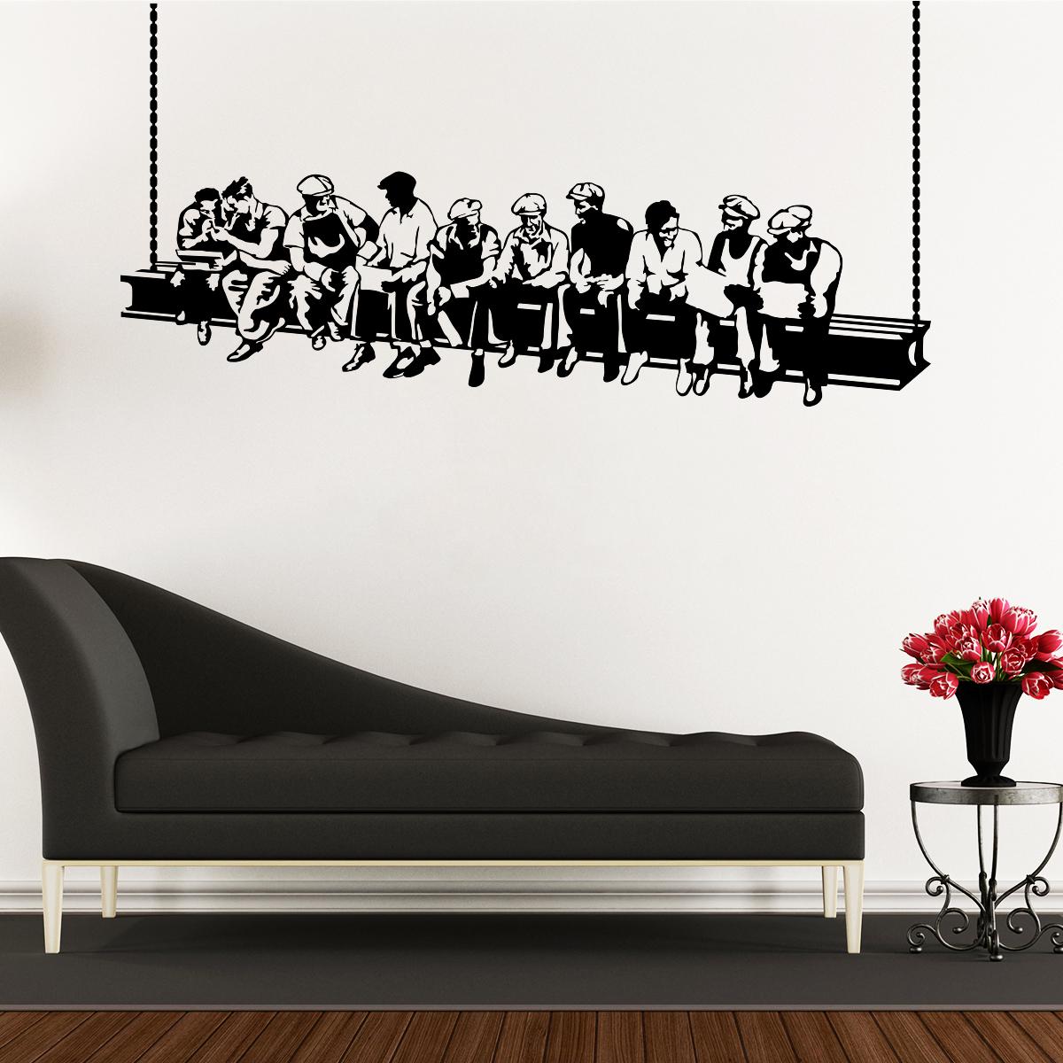 stickers muraux pays et villes sticker les ouvriers de new york ambiance. Black Bedroom Furniture Sets. Home Design Ideas
