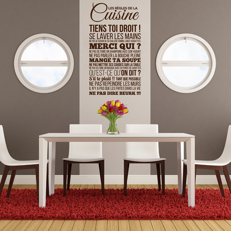 Stickers Cuisine Design. Simple Wall Stickers Rglement De La