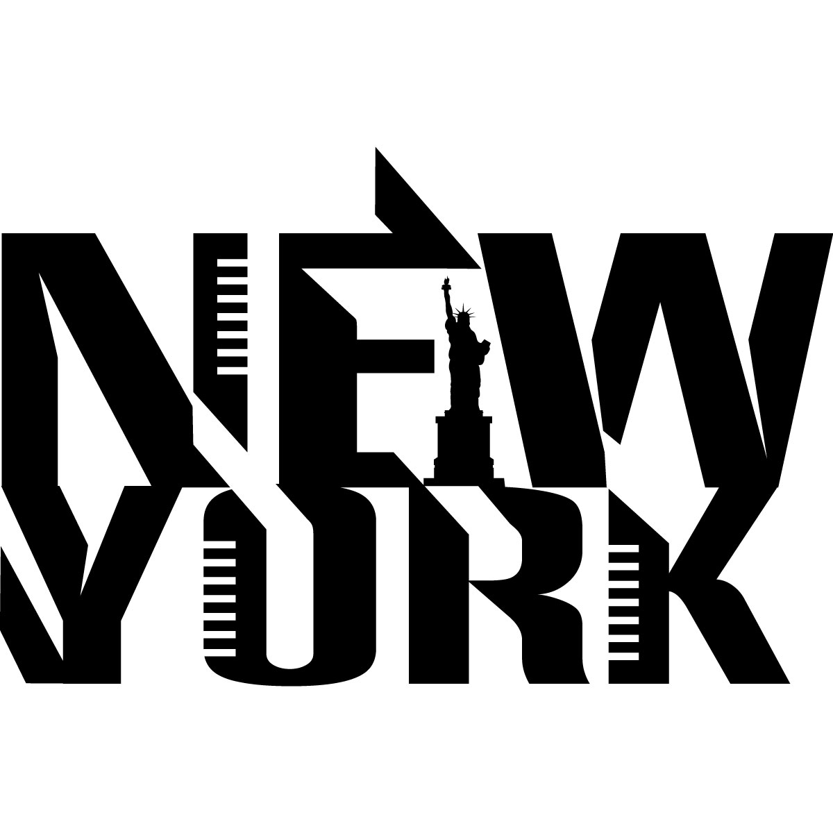 stickers muraux pays et villes sticker logo de new york ambiance. Black Bedroom Furniture Sets. Home Design Ideas
