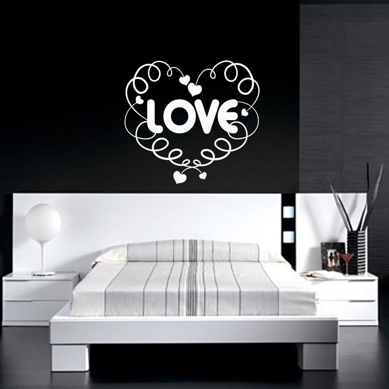 Sticker love dans les nuages stickers chambre amour for Stickers chambre love