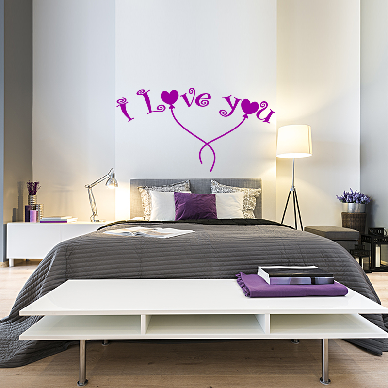 Sticker love en cerf volant stickers chambre amour for Stickers chambre love