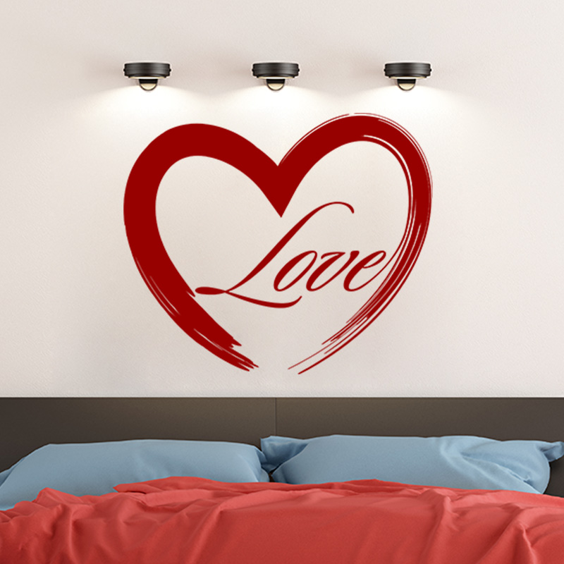 Sticker love en peinture stickers chambre amour for Stickers chambre love