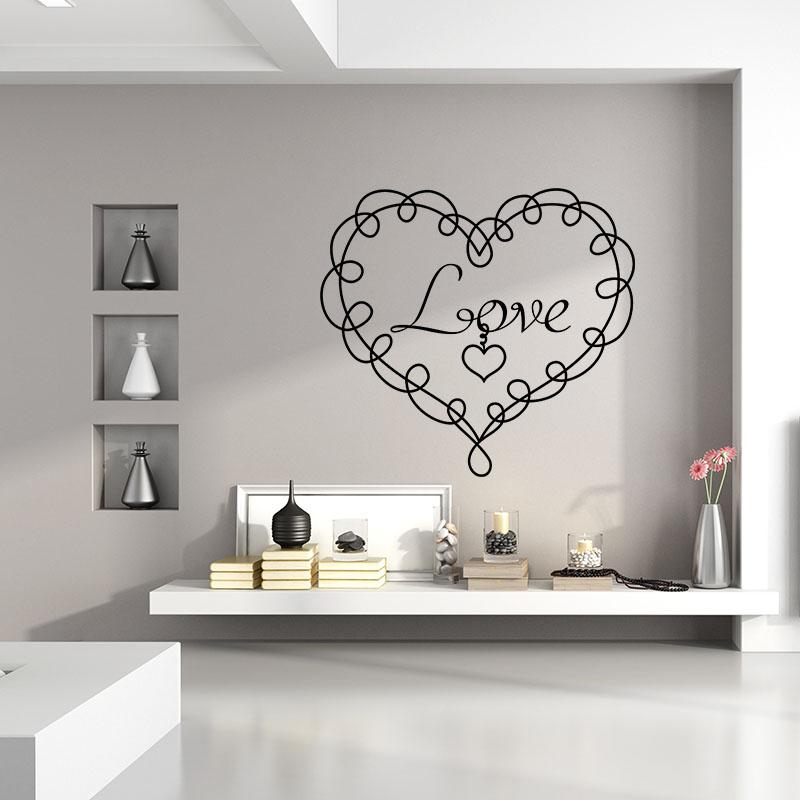 Sticker love en porte cl stickers chambre amour for Stickers chambre love