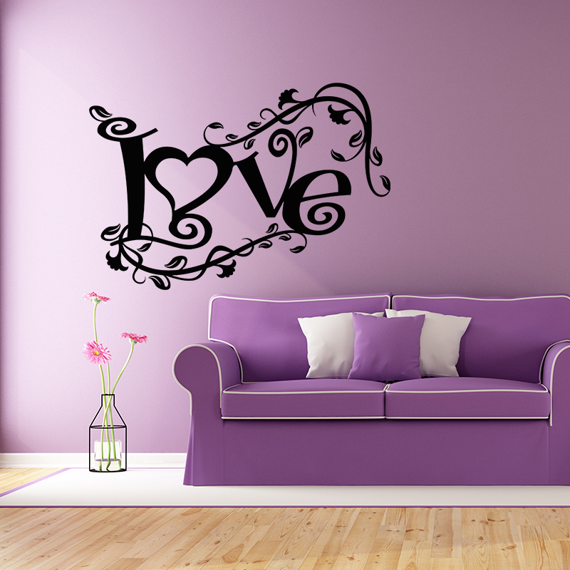 Sticker love sous le vent stickers chambre amour for Stickers chambre love