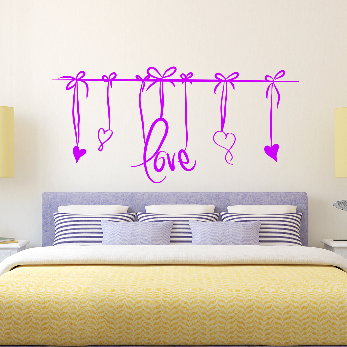 sticker love t te de lit stickers f tes stickers saint valentin ambiance sticker. Black Bedroom Furniture Sets. Home Design Ideas