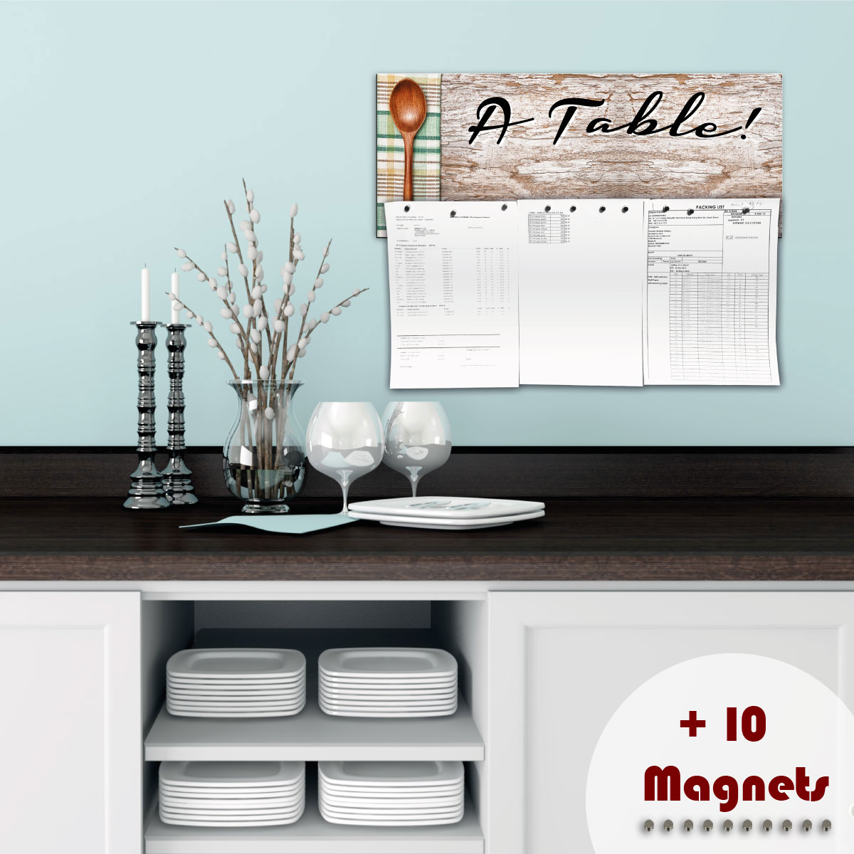 sticker magn tique sticker papier peint magn tique table ambiance. Black Bedroom Furniture Sets. Home Design Ideas