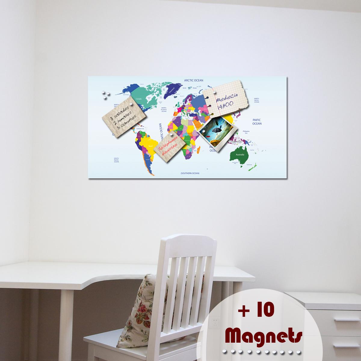 papier peint magn tique sticker papier peint magn tique carte ambiance. Black Bedroom Furniture Sets. Home Design Ideas