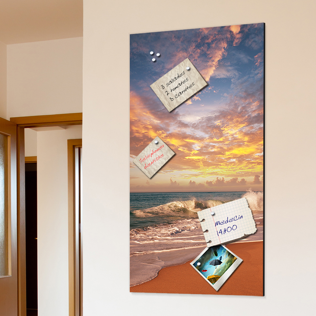 papier peint magn tique sticker papier peint magn tique mer coucher de soleil ambiance. Black Bedroom Furniture Sets. Home Design Ideas
