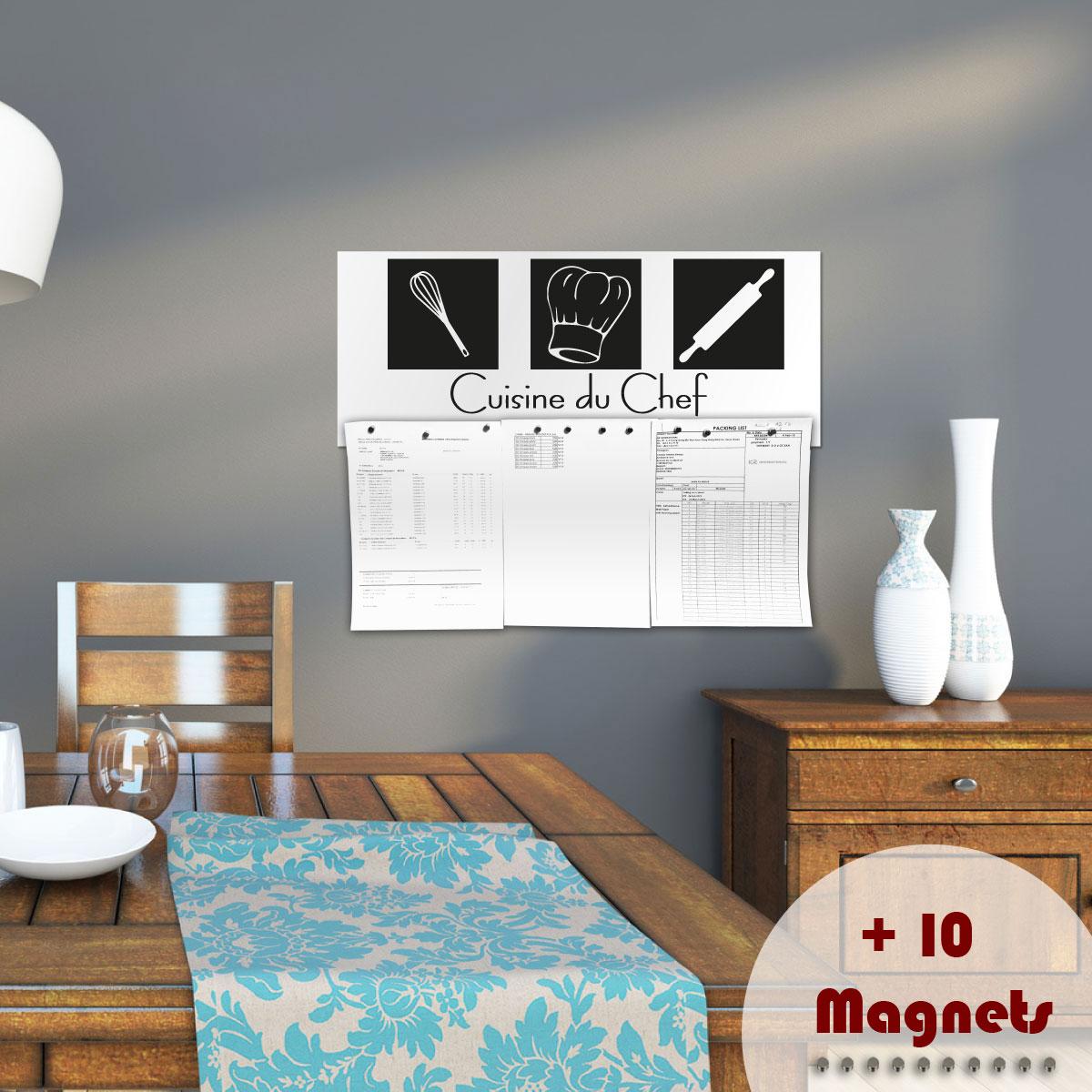 Sticker magn tique sticker magn tique cuisine du chef ambiance - Papier peint magnetique mural ...