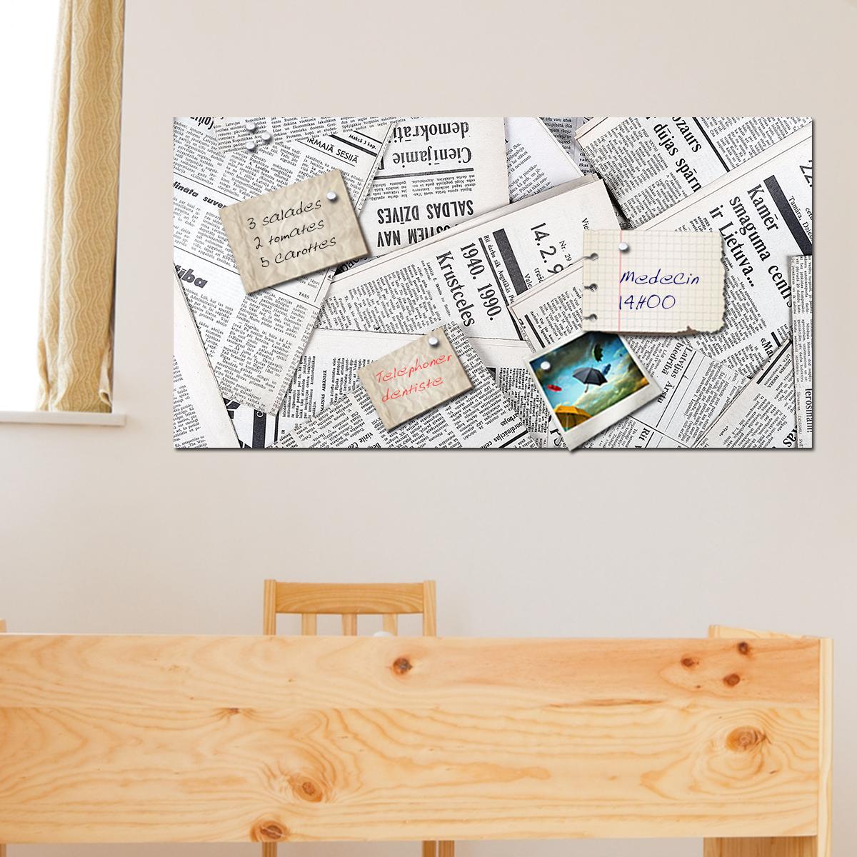 Papier peint magn tique sticker papier peint magn tique journal ambiance - Papier peint journal ...