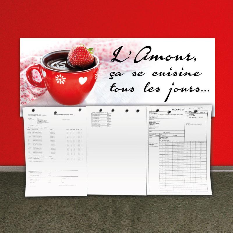 sticker magn tique sticker magn tique l amour a se cuisine tous les jours ambiance. Black Bedroom Furniture Sets. Home Design Ideas