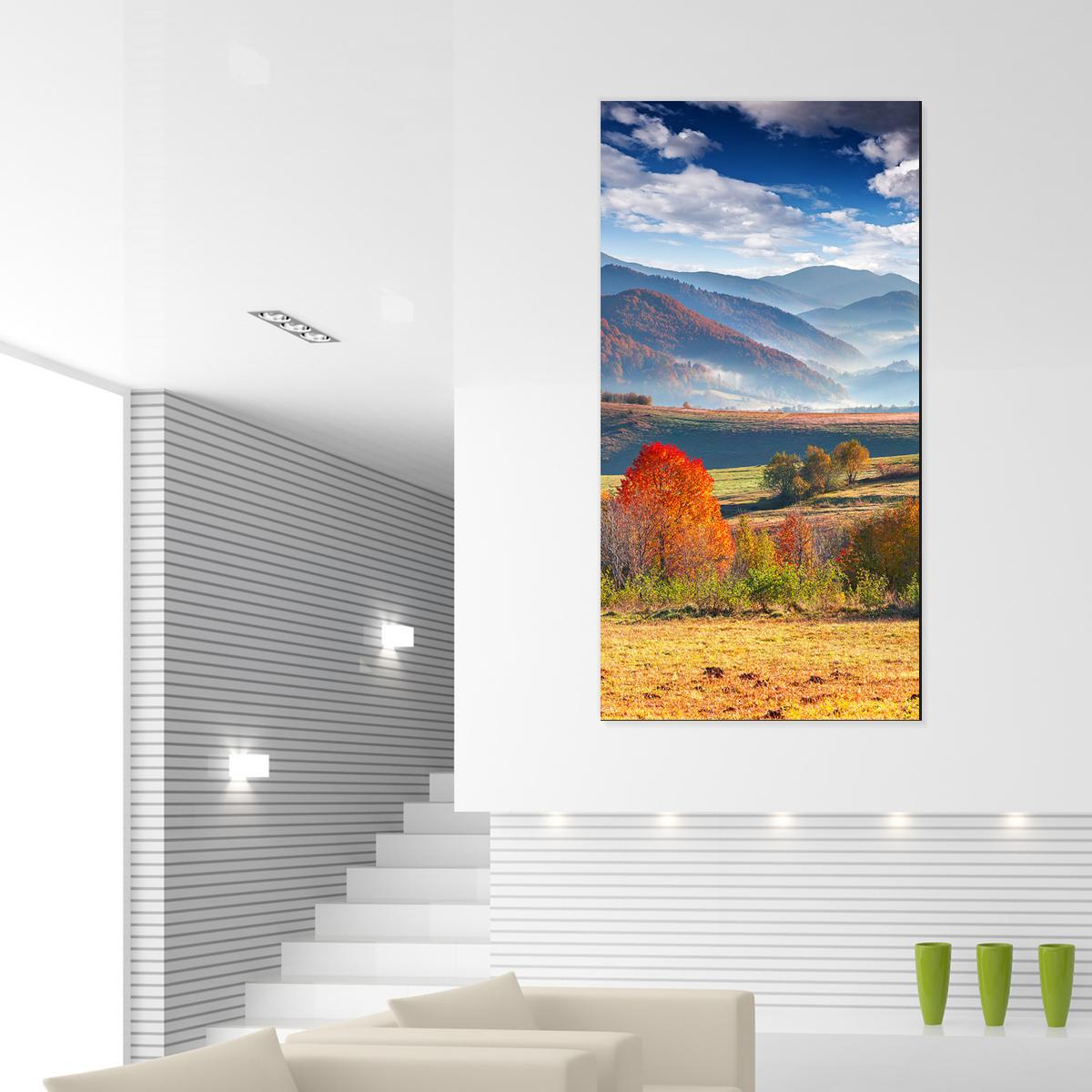 papier peint magn tique sticker papier peint magn tique automne dans les montagnes ambiance. Black Bedroom Furniture Sets. Home Design Ideas