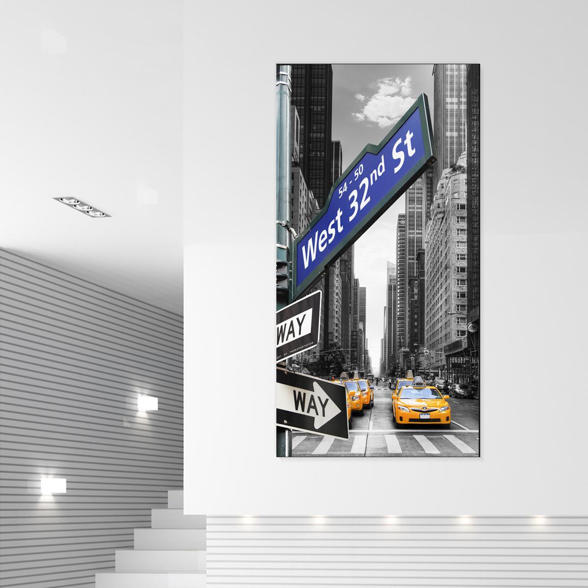 papier peint magn tique sticker papier peint magn tique new york taxi ambiance. Black Bedroom Furniture Sets. Home Design Ideas