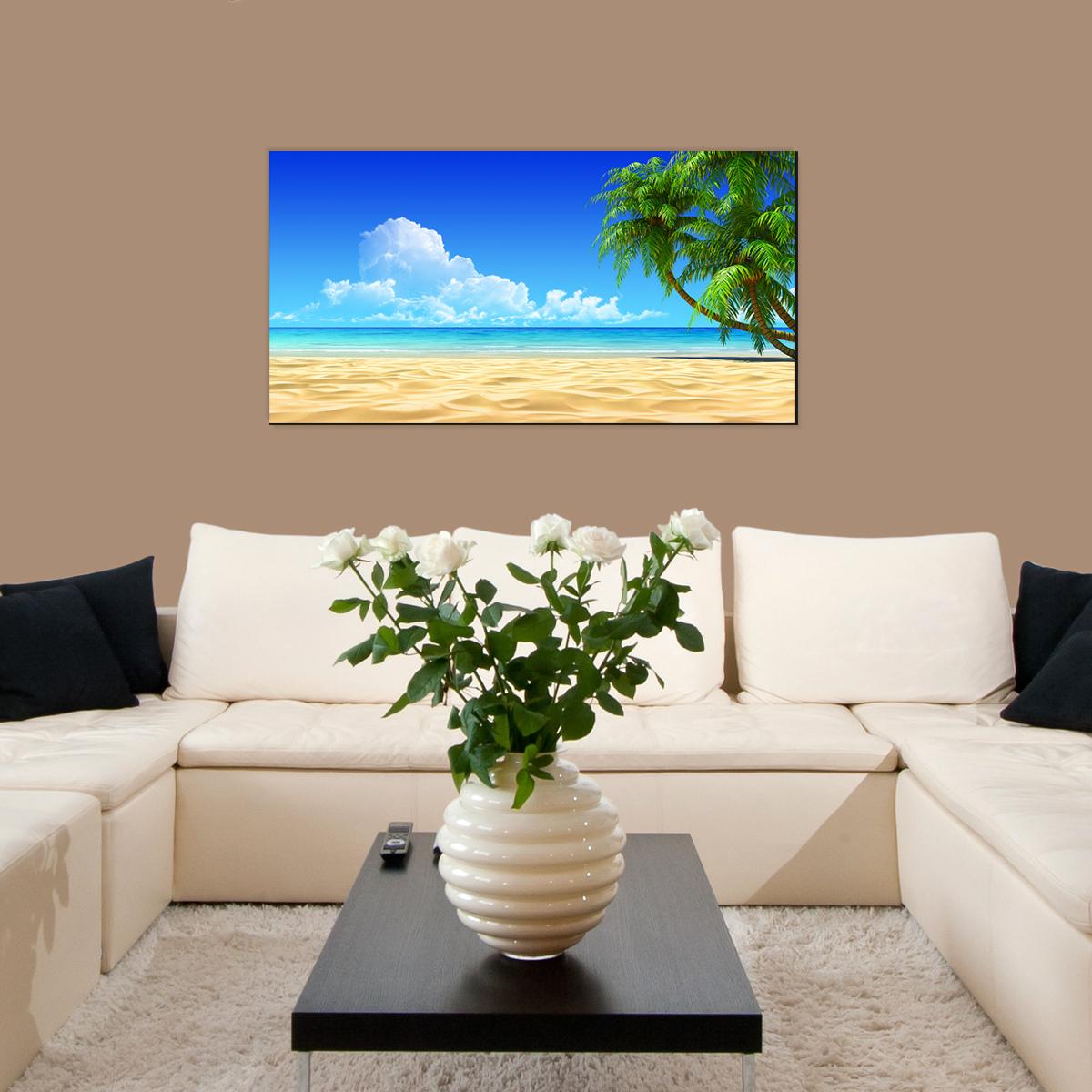 papier peint magn tique sticker papier peint magn tique plage tropicale et le palmier. Black Bedroom Furniture Sets. Home Design Ideas