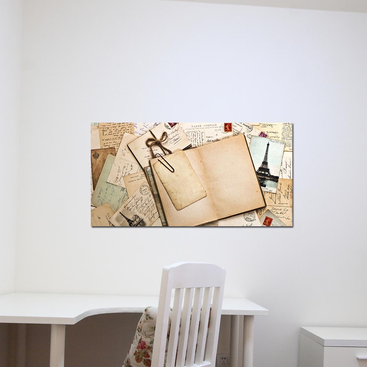 papier peint magn tique sticker papier peint magn tique vieille lettres ambiance. Black Bedroom Furniture Sets. Home Design Ideas