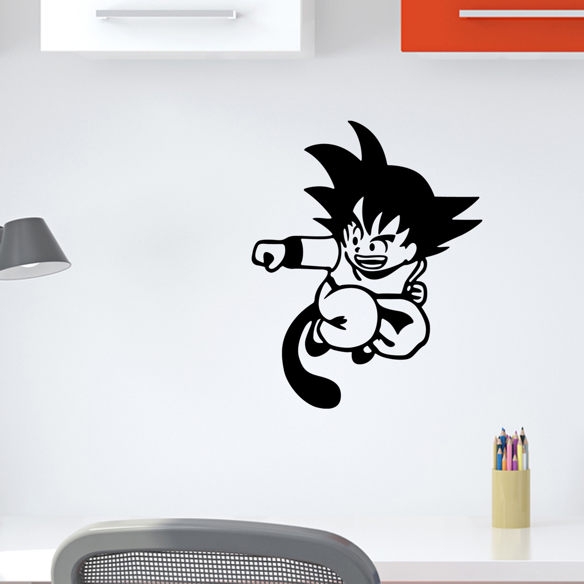 stickers muraux pour les enfants sticker dragon ball attaque ambiance. Black Bedroom Furniture Sets. Home Design Ideas