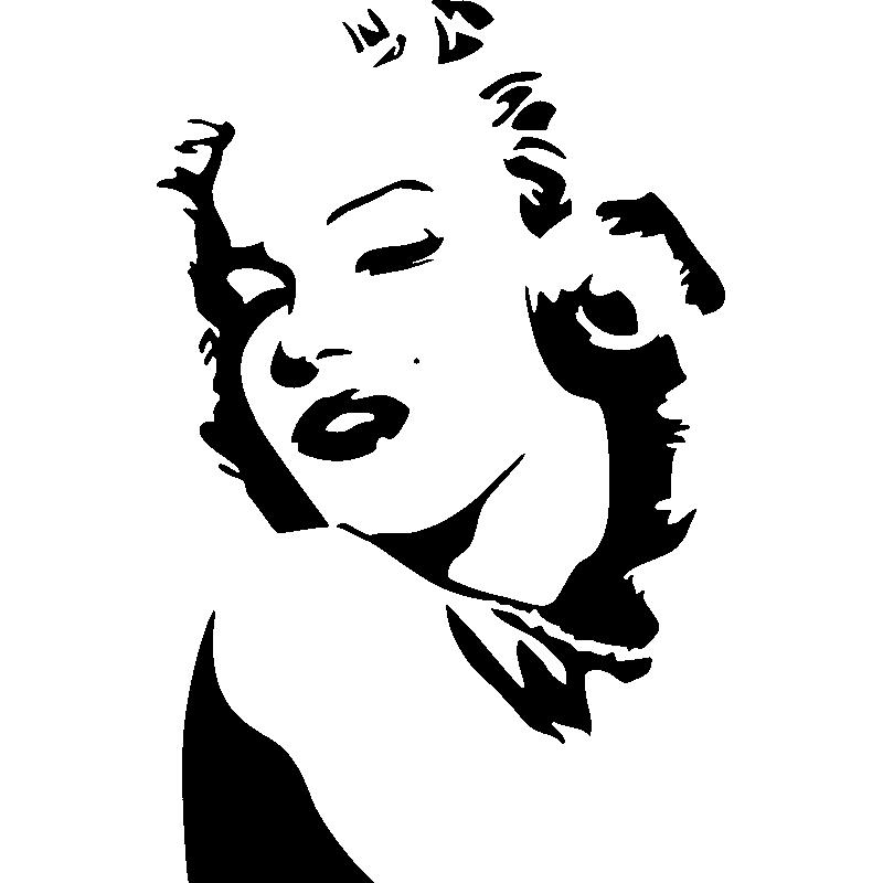 Mac stickers avec marilyn monroe - Robe de mariee bustier transparent ...