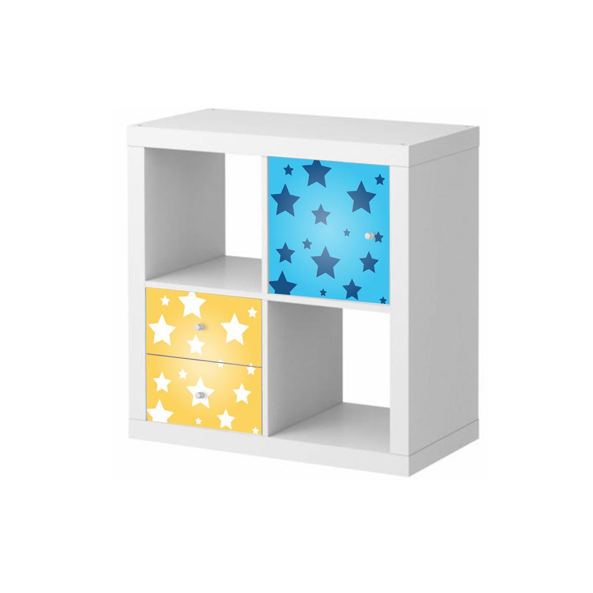 stickers meubles ikea stickers meubles ikea toiles sur fond bleu ambiance. Black Bedroom Furniture Sets. Home Design Ideas