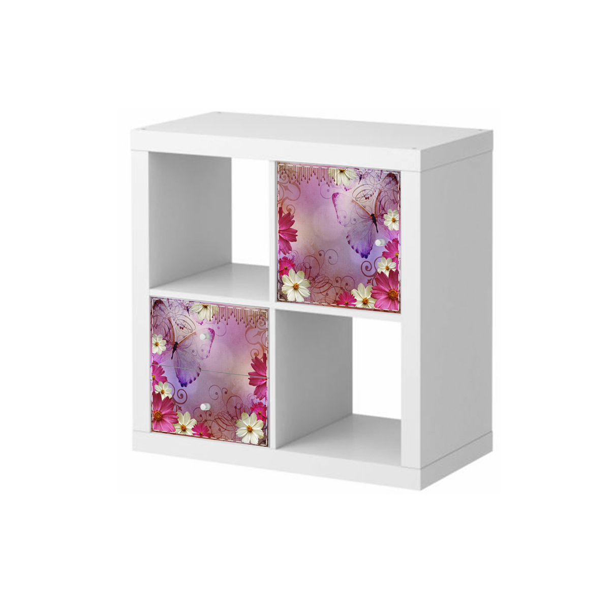 stickers meubles ikea stickers meubles ikea papillon et fleurs ambiance. Black Bedroom Furniture Sets. Home Design Ideas