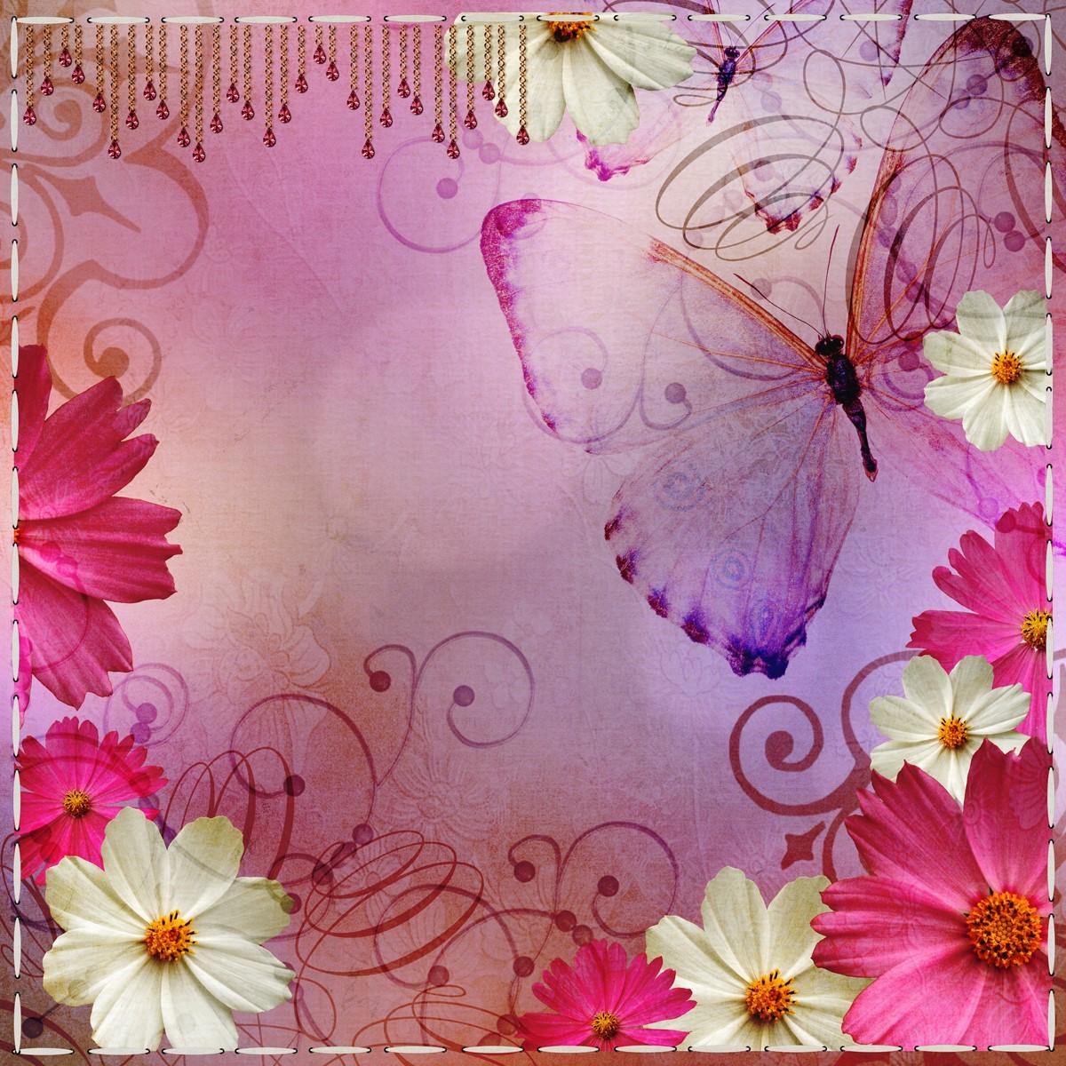Stickers meubles ikea stickers meubles ikea papillon et - Image papillon et fleur ...