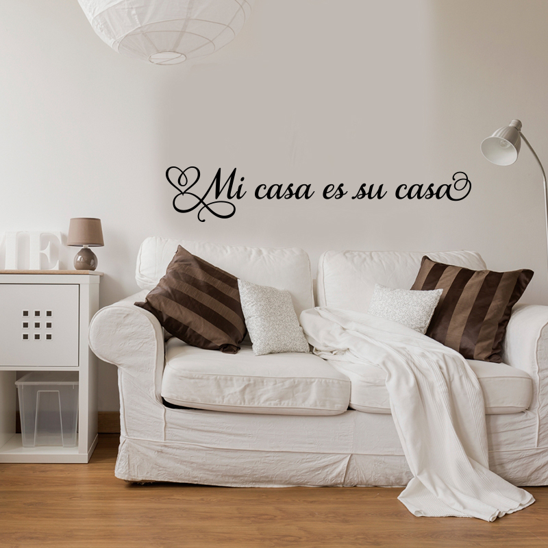 sticker mi casa es su casa stickers citations espagnol ambiance sticker. Black Bedroom Furniture Sets. Home Design Ideas