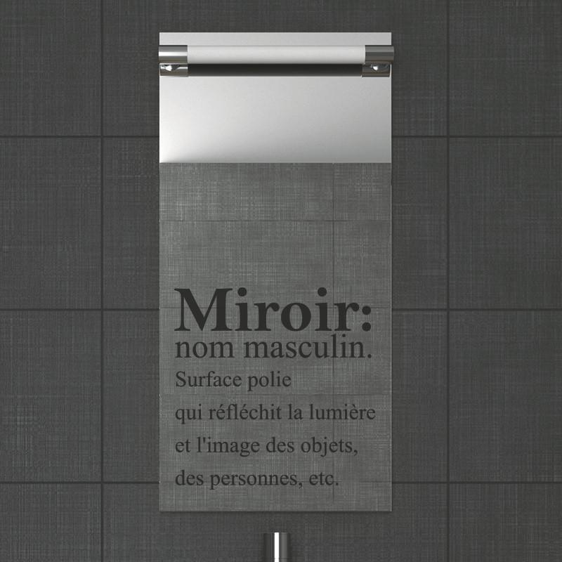 stickers muraux pour salle de bain sticker mural miroir ambiance. Black Bedroom Furniture Sets. Home Design Ideas