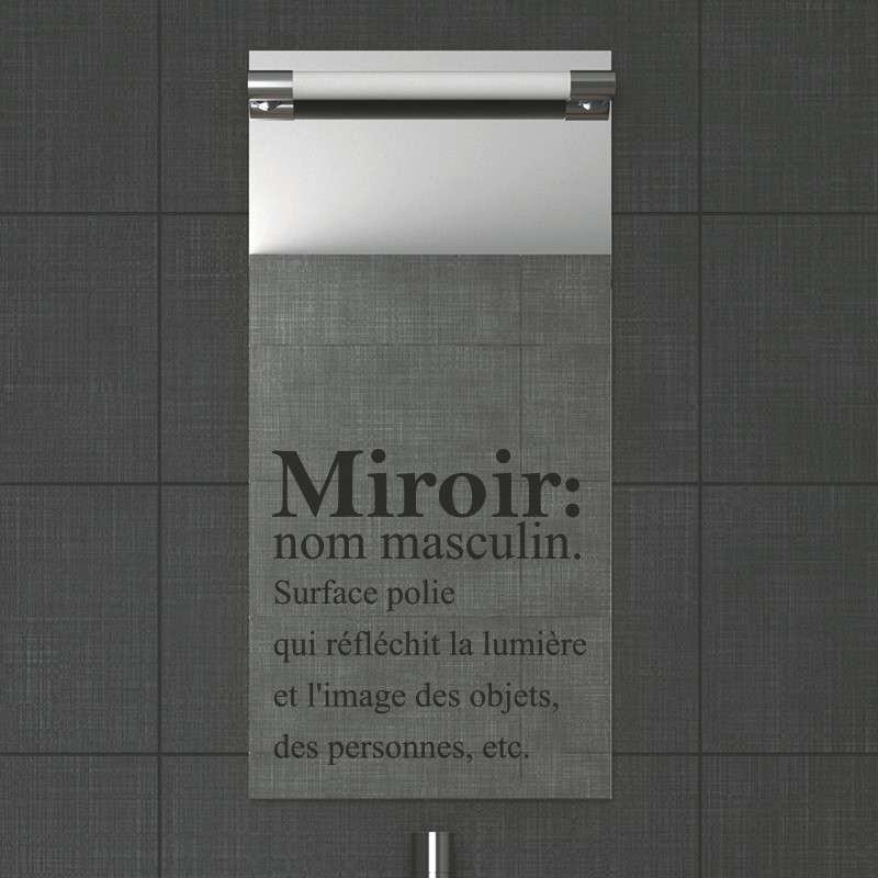 Stickers muraux pour salle de bain sticker mural miroir for Miroir definition
