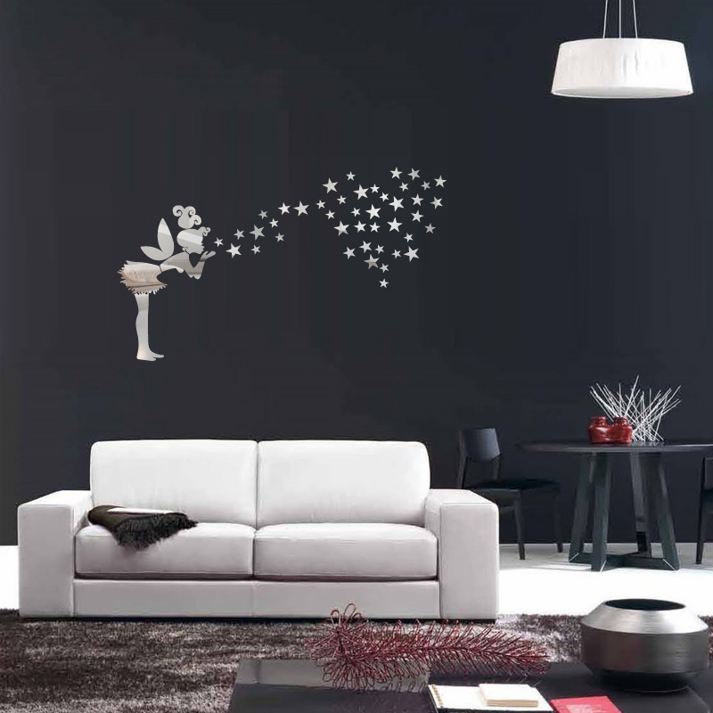 sticker miroir f e et 42 toiles sticker filles f es ambiance sticker. Black Bedroom Furniture Sets. Home Design Ideas