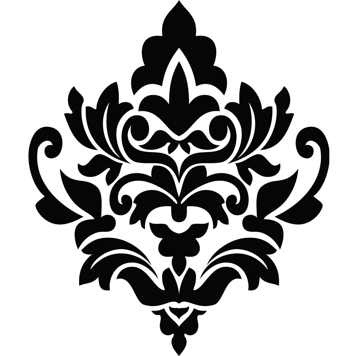 stickers muraux design sticker mural motif fleur ambiance. Black Bedroom Furniture Sets. Home Design Ideas