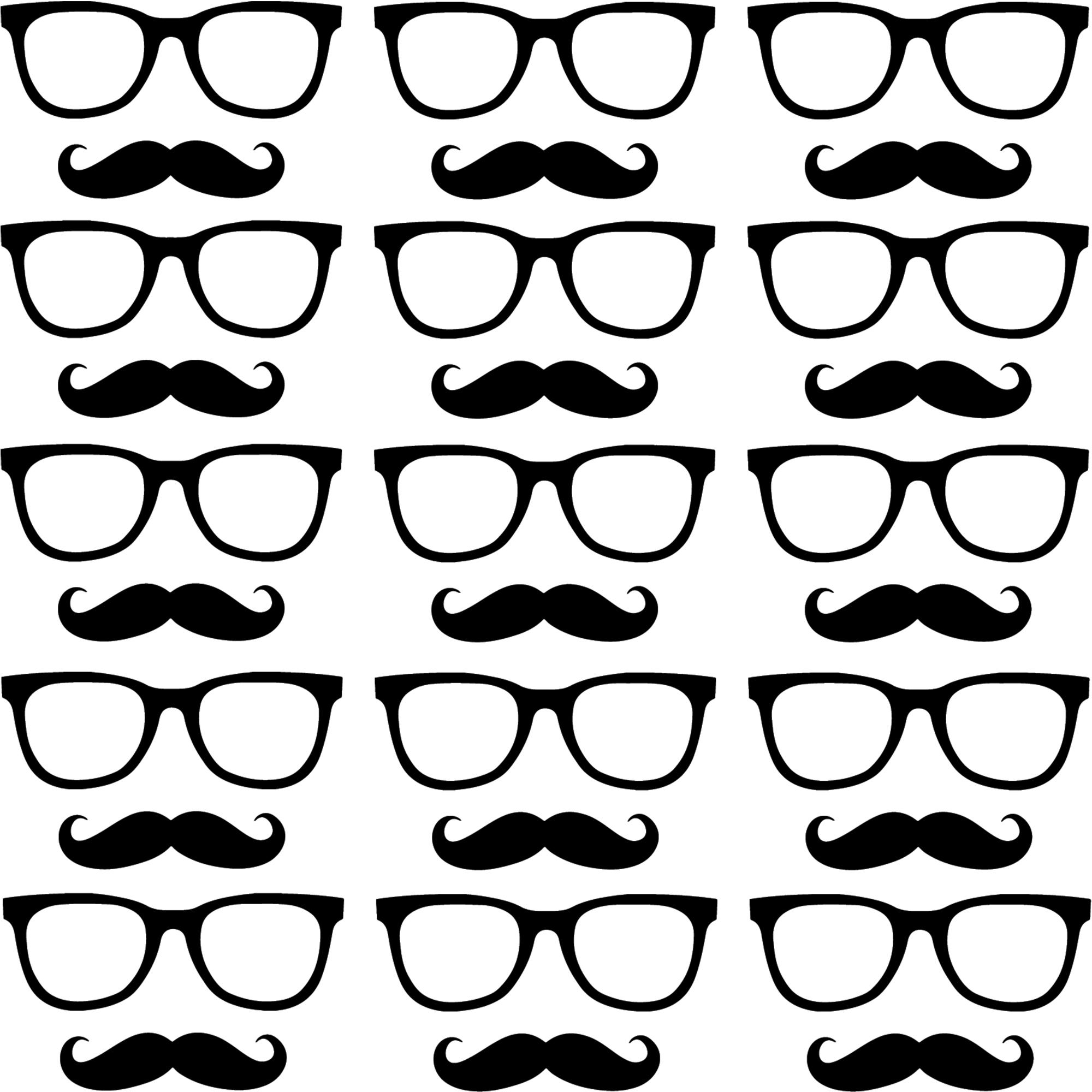 sticker motif lunettes et moustaches stickers mini stickers fun ambiance sticker. Black Bedroom Furniture Sets. Home Design Ideas