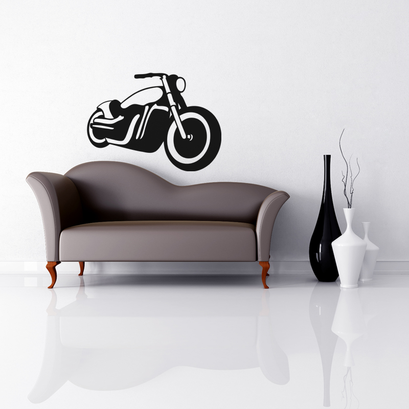 stickers de silhouettes et personnages sticker moto contemporain ambiance. Black Bedroom Furniture Sets. Home Design Ideas