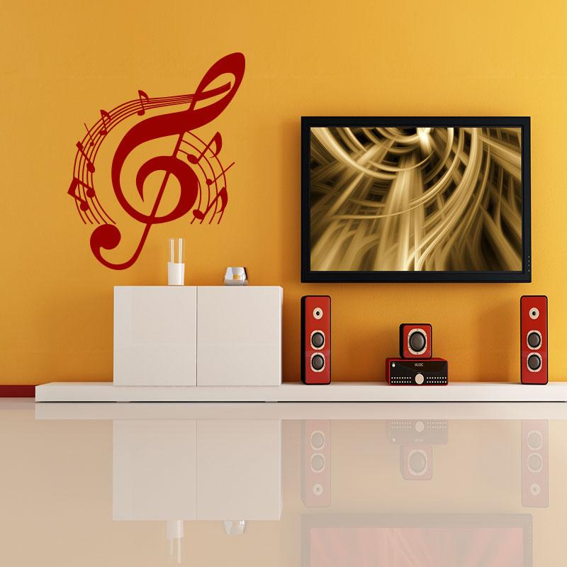 sticker musique cl de sol stickers musique cinema musique ambiance sticker. Black Bedroom Furniture Sets. Home Design Ideas