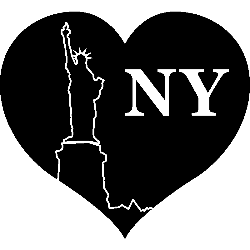 stickers muraux pays et villes sticker new york c ur ambiance. Black Bedroom Furniture Sets. Home Design Ideas