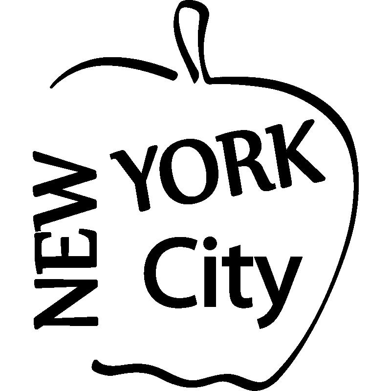 stickers muraux pays et villes sticker new york dans la pomme ambiance. Black Bedroom Furniture Sets. Home Design Ideas