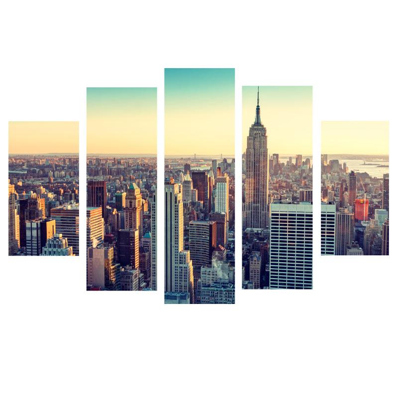 Sticker new york en 5 parties stickers villes et voyages - Sticker porte new york ...