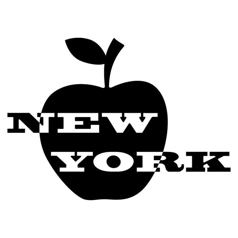 stickers muraux pays et villes sticker new york et pomme ambiance. Black Bedroom Furniture Sets. Home Design Ideas