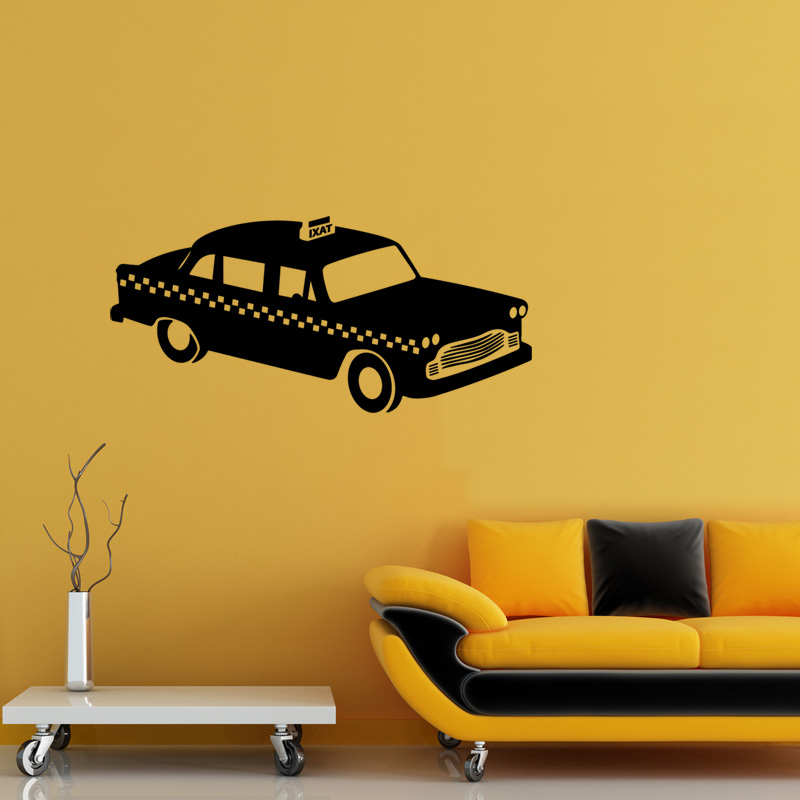 stickers muraux pays et villes sticker new york taxi ambiance. Black Bedroom Furniture Sets. Home Design Ideas