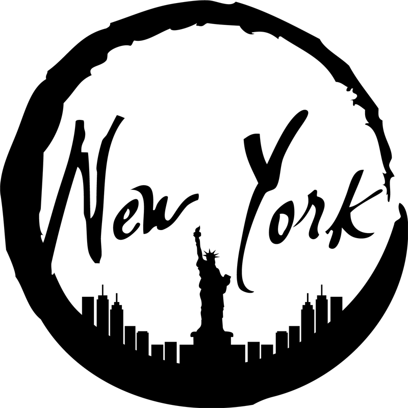 stickers muraux new york sticker new york encercl e ambiance. Black Bedroom Furniture Sets. Home Design Ideas