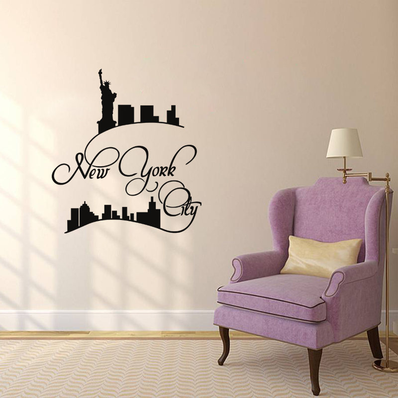stickers muraux new york sticker new york tendance ambiance. Black Bedroom Furniture Sets. Home Design Ideas
