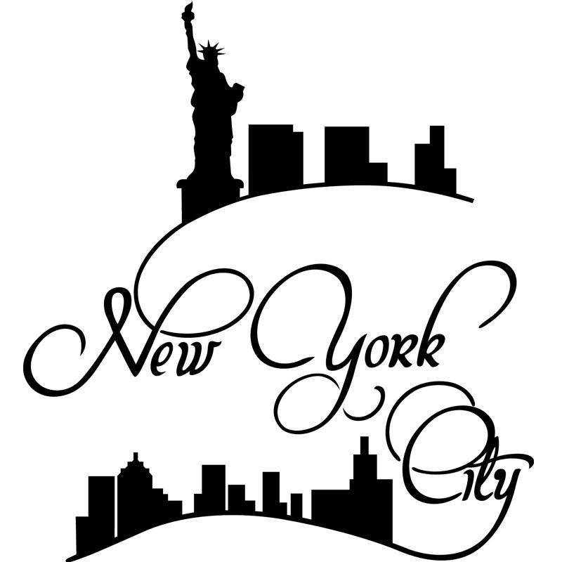 stickers muraux new york sticker new york tendance ambiance. Black Bedroom Furniture Sets. Home Design Ideas