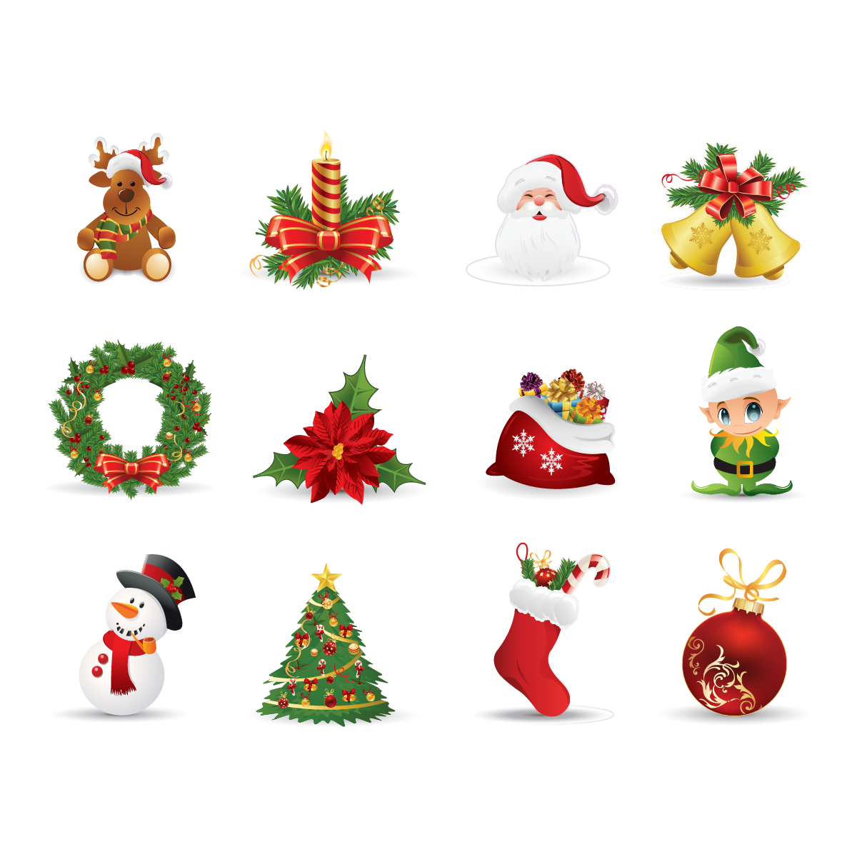 Sticker no l d corations de no l stickers f tes stickers for Decoration noel dessin