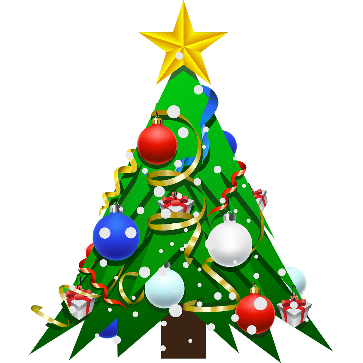 Sticker no l le grand sapin de no l stickers f tes - Clipart sapin de noel ...
