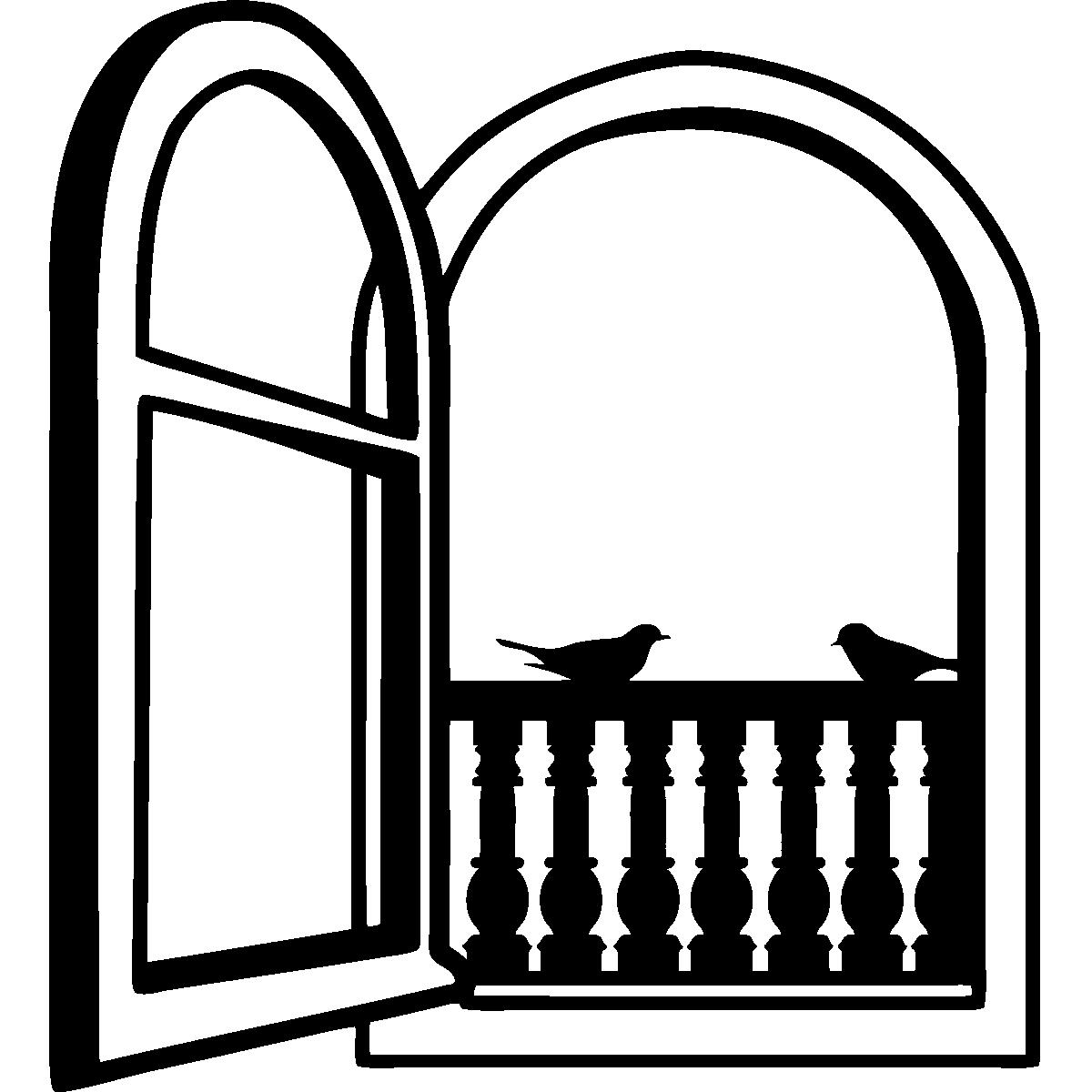 stickers pour chambre sticker oiseaux sur la fen tre ambiance. Black Bedroom Furniture Sets. Home Design Ideas