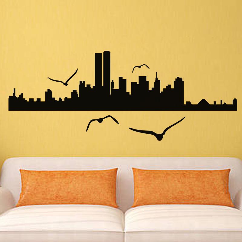 stickers muraux new york sticker oiseaux sur new york ambiance. Black Bedroom Furniture Sets. Home Design Ideas
