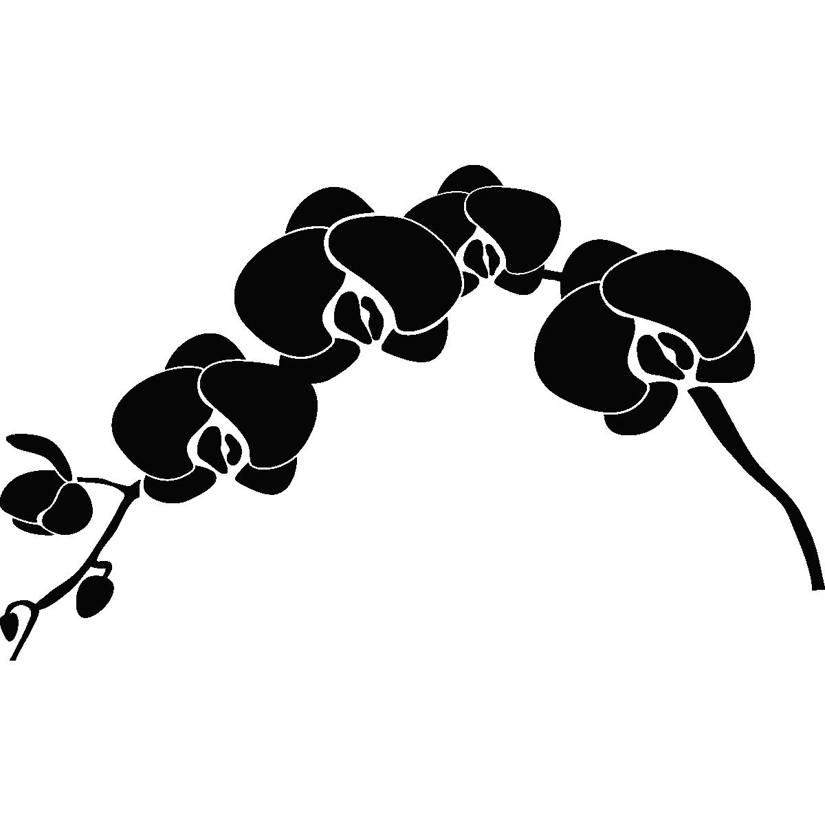 stickers muraux pour salle de bain sticker mural orchid e ambiance. Black Bedroom Furniture Sets. Home Design Ideas