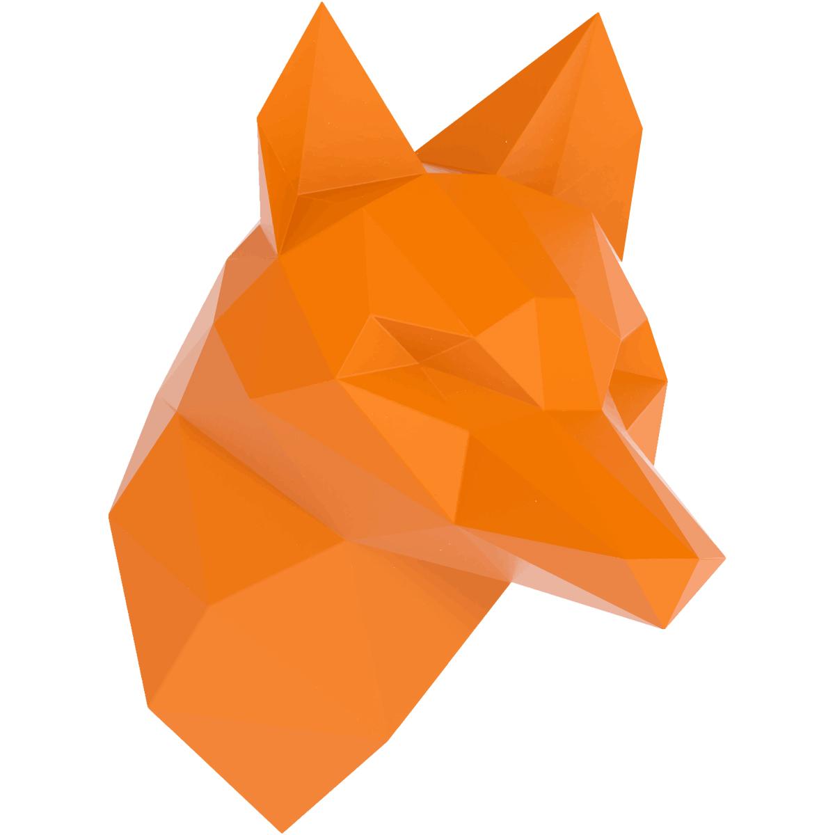 Sticker origami 3d renard orange de profil stickers 3d effets 3d ambiance sticker - Animaux origami 3d ...