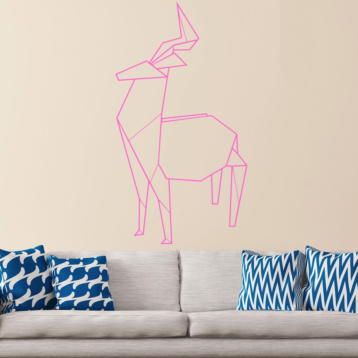 sticker origami cerf stickers art et design artistiques ambiance sticker. Black Bedroom Furniture Sets. Home Design Ideas