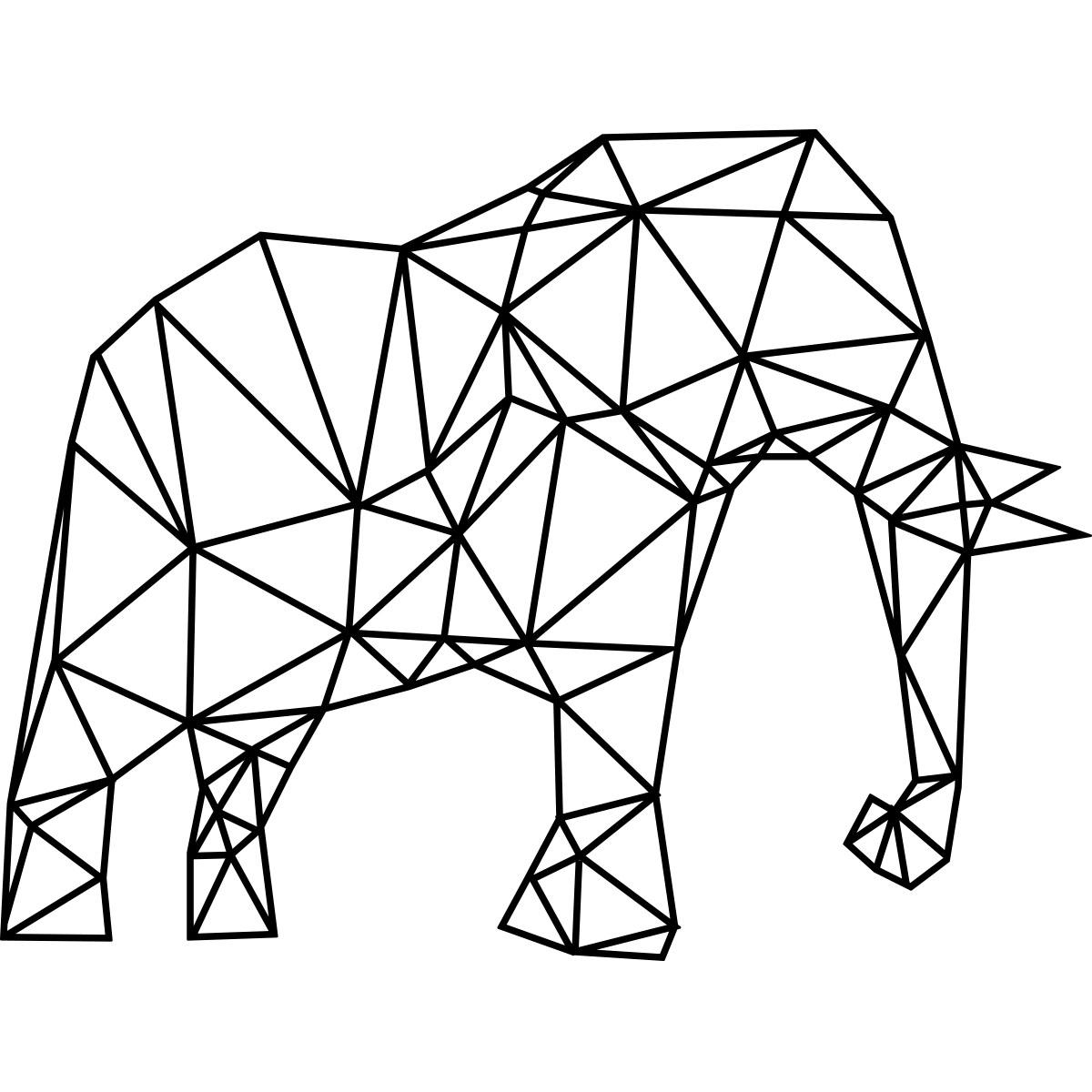 Sticker Origami Elephant D Afrique 4 Ambiance KC6605