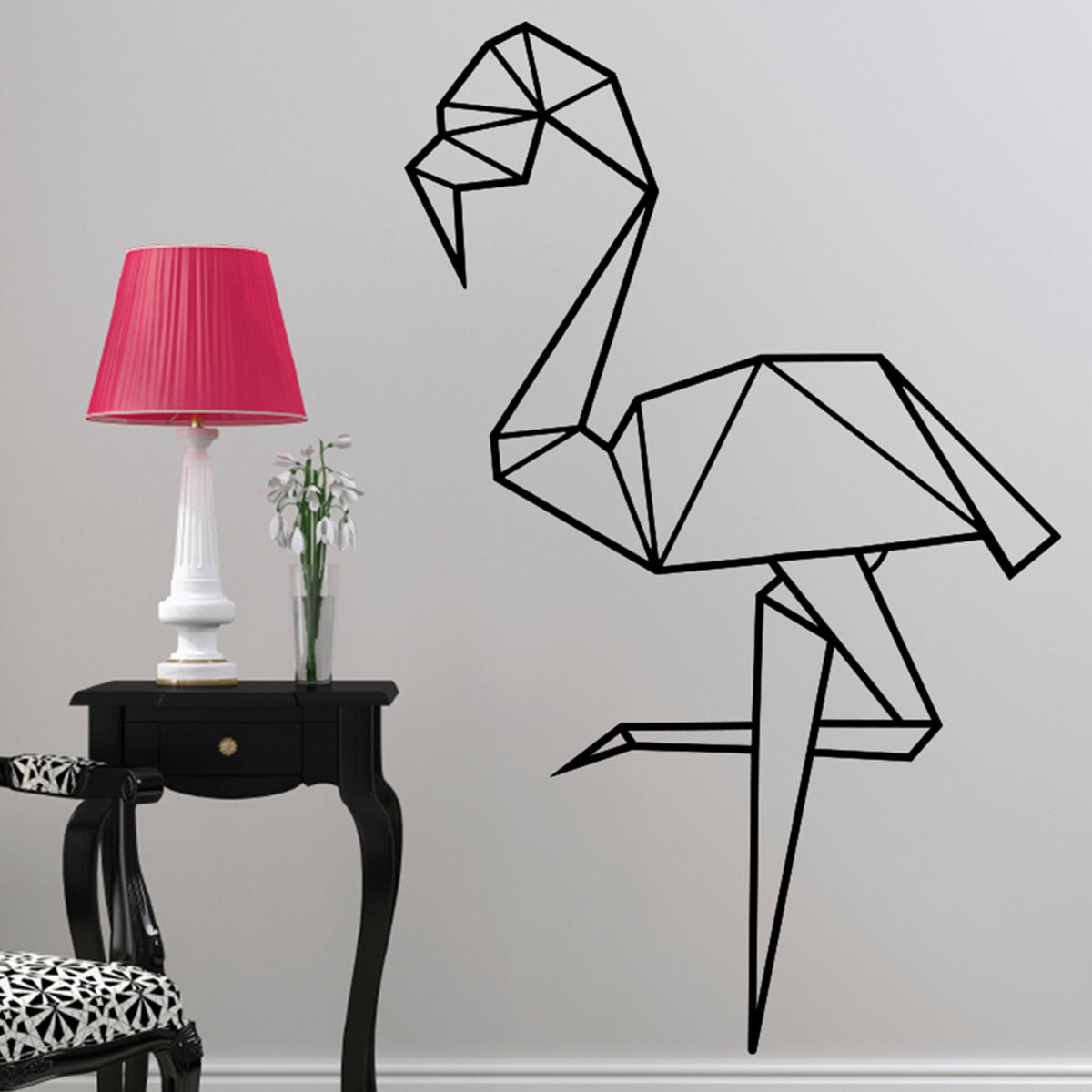 deco flamant rose origami. Black Bedroom Furniture Sets. Home Design Ideas